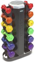 HAMPTON Jelly-Bell 6 pairs Jelly-Bell set w/ MV-JB-6 Rack KJB-SET (6 пар гантелей + стойка MV-JB-6)